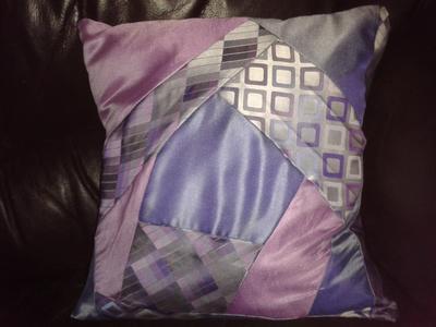 Recycled Silk Tie Cushion