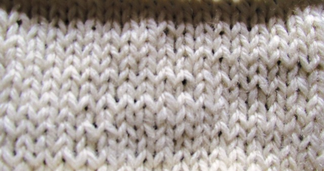The knit stitch is one of the first knitting stitches to learn.