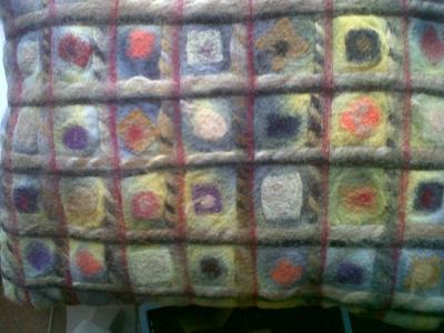 needle felted cushion