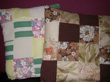 Basic patchwork cushion design